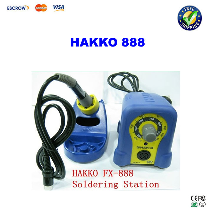 220V HAKKO 888 Fx-888 Solder Station Electric Soldering Iron dhl free shipping hot sale 220v hakko fx 888 fx888 888 solder soldering iron station with 10 free tips 900m t