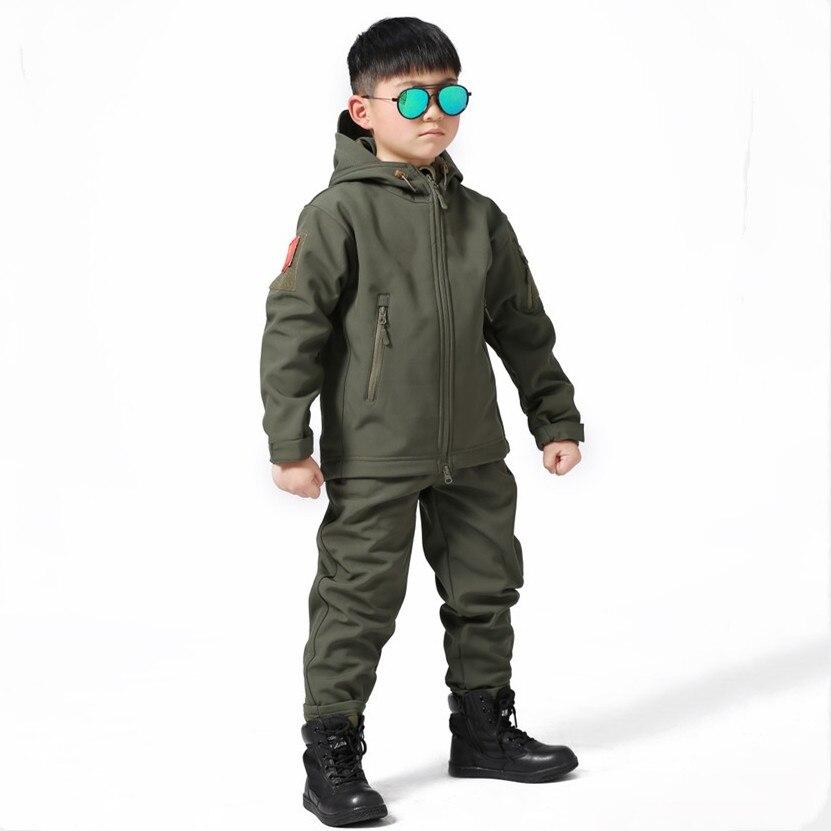 Детский походный костюм для скалолазания на открытом воздухе, походная куртка и штаны, тренировочный костюм для скалолазания, ветрозащитна...