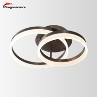 Dragonscence Modern LED Ceiling chandelier lighting Circle Rings chandelier Lamp fixtures for living dining Children bed room