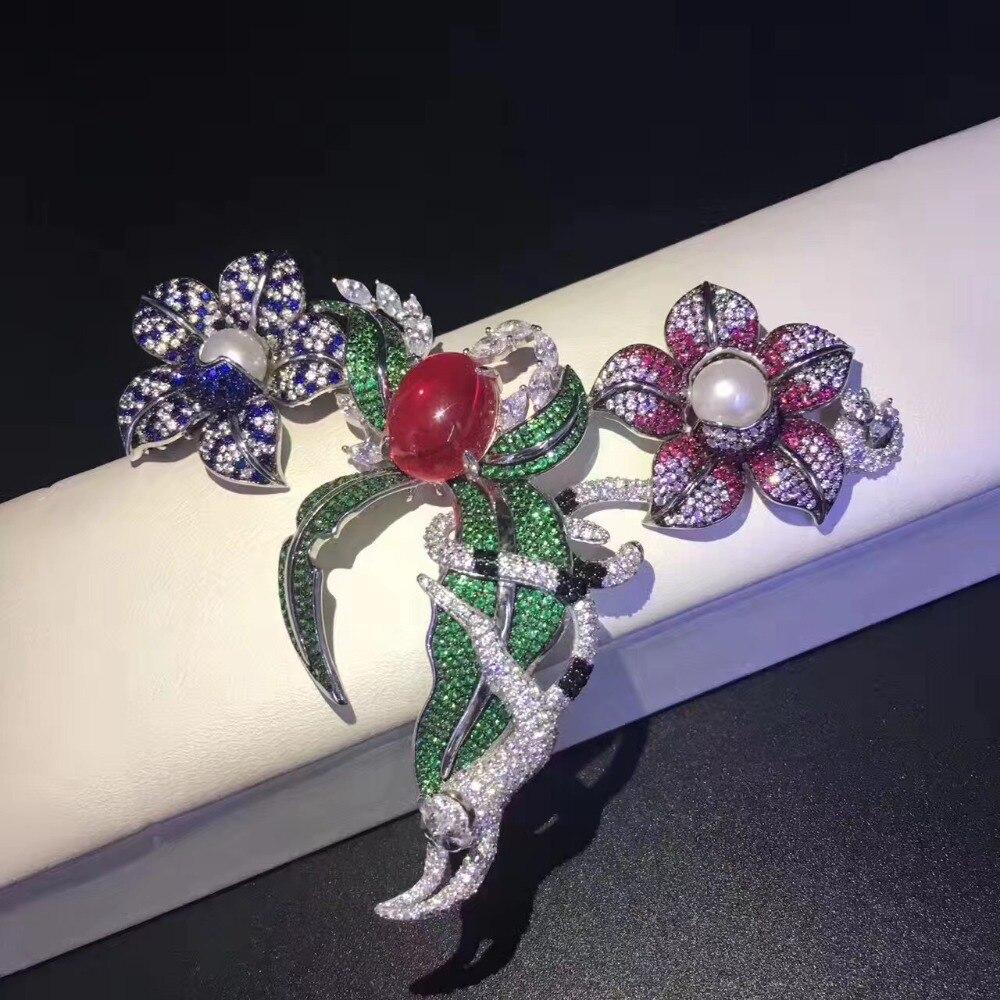 Bijoux à bricoler soi-même trouver et composants 925 argent sterling avec zircon cubique fleur et animaux connecteurs pour collier de haute qualité