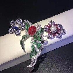 Diy ювелирные изделия и компоненты 925 стерлингового серебра с кубическим цирконием цветок и животное разъемы для ожерелья Высокое качество