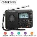 RETICÊNCIA V115 Receptor de Rádio AM FM SW Rádio Portátil de Bolso Com USB MP3 Gravador Digital Apoio Às Micro SD Tf sleep Timer
