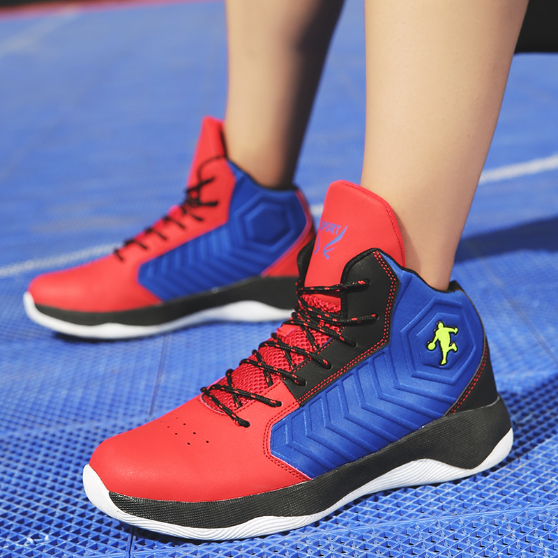 2e9c950b875 Man Jordan High Basketball Shoes Breathable Anti slip Basketball Sneakers  Men Lace up Sports Gym Ankle Boots Shoes Basket Homme-in Basketball Shoes  from ...