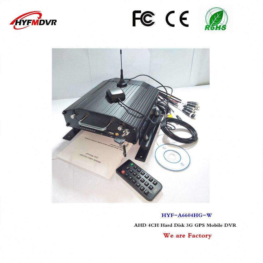 Видеорегистратор с дистанционным управлением, 3G, GPS, mdvr, 4CH HD HDD, мобильный видеорегистратор, поддерживает испанский/Египетский язык