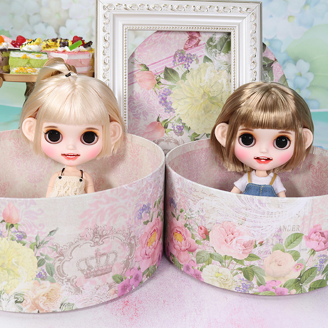 ICY blyth doll matte face white skin gold short straight hair suit doll with teeth lips eyebrows 30cm DIY BJD SD gift