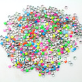 7 colores mezclados 1000 unids/pack 2 MM Square fluorescente del Color del caramelo del arte del clavo decoraciones 3D Metallic piedras decoración espárragos
