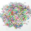 Mixed 7 cores 1000 unidades/pacote 2 MM cor fluorescente quadrado strass decorações 3D Metallic Nail Art decoração studs