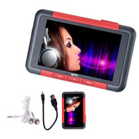 Mayitr 1pc 8GB Red Music Video Player 3 LCD Slim MP5 MP4 Music Video Movie Media