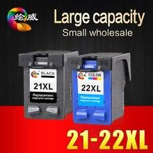 2 stücke tintenpatrone für hp 21 22 xl für hp patronen 21 und 22 für hp deskjet 3915 d1530 d1320 f2100 f2280 f4100 F4180