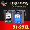 2 pcs cartucho de tinta para hp 21 22 xl para hp cartuchos 21 e 22 para a hp deskjet d1320 3915 d1530 f2100 f2280 f4100 F4180
