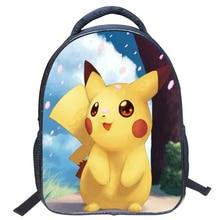 Fashion Cute Kids Backpack Kindergarten School Bags Pokemon Printing Mochila Infantil For Small Boys Student Pikachu Bookbags