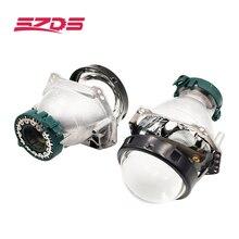 SZDS 3.0 inç Bi xenon Hella 3R Hella 5 3 inç Projektör Lens HID D1 D2 D3 D4 D2H evrensel Araba FAR REFLEKTÖRÜ Lens