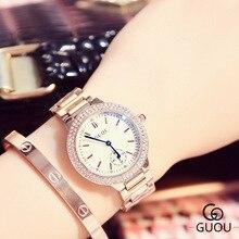 2017 New Girls Rhinestone Watch Trend Girls Sapphire Crystal Diamond Rose Gold Quartz Watch Luxurious Feminine Waterproof Clocks