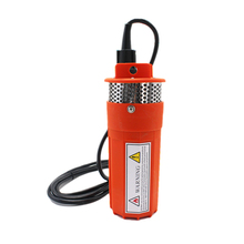DC 12V 360LPH 70M Lift,Small Submersible Solar energy Water Pump Outdoor Garden Deep Well Car Wash bilge Cleaning 12 v volt,red