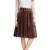 Las mujeres de Cintura Alta Falda Elegante 2017 Primavera Fiesta de Invierno de Las Señoras Faldas de Terciopelo Negro Marrón Verde Color de Moda Femenina Falda