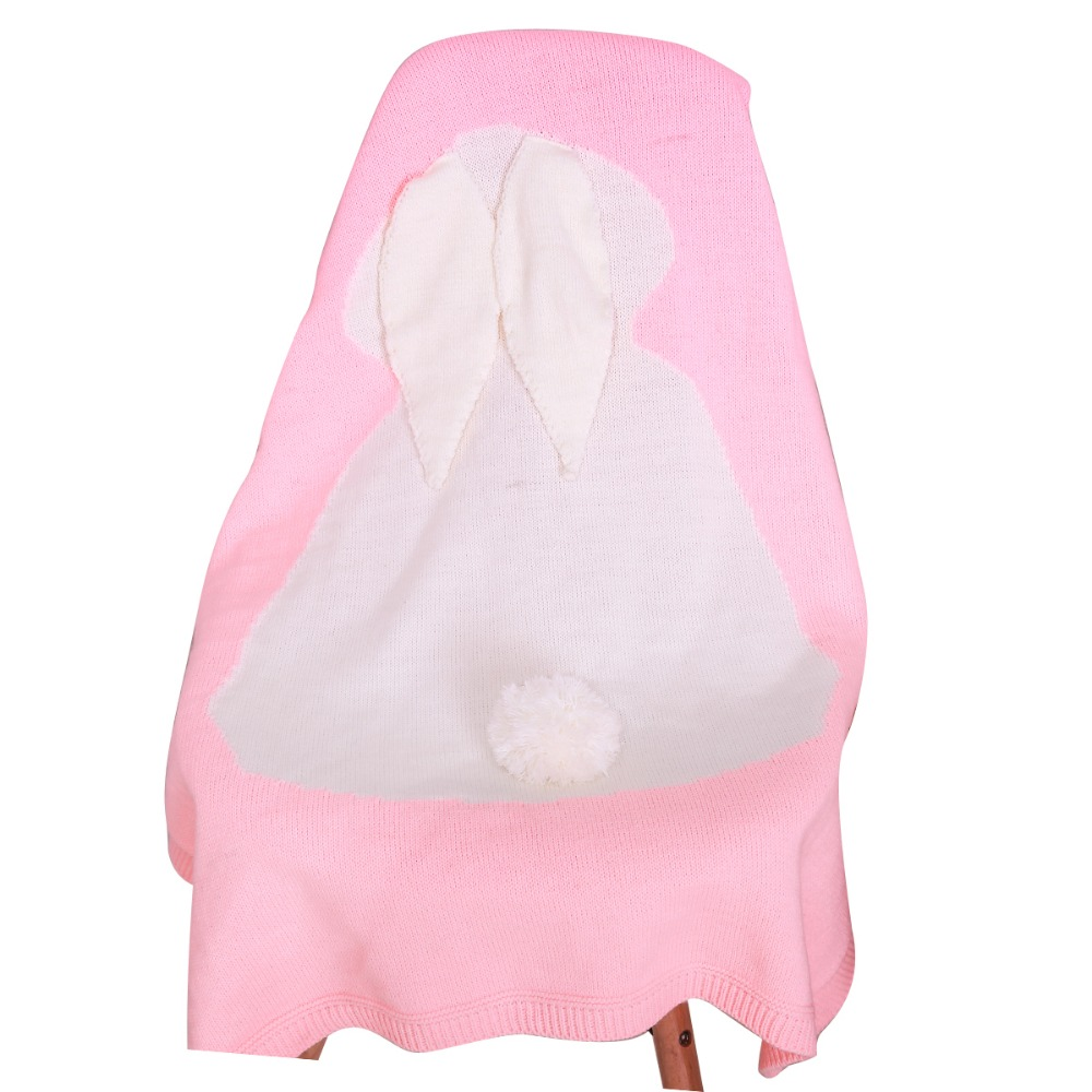 Aliexpress : Buy Cute Bunny Kids Baby Knit Blanket Rabbit Bed Sofa  Cobertores Mantas Bath Towel Cover Throws Wrap Toddler Infant Sleeping  Swaddle From