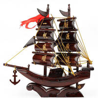 A PCS Redwood sailboat model craft ornaments Easy sailing ship business moved to business creative gifts AP5181513