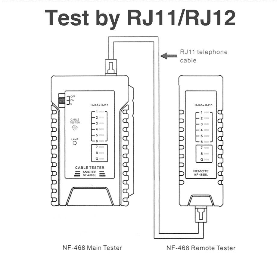 2018 Ethernet Cable Tester Rj45 Rj11 Lan For Utp Stp Network Monoprice Rj12 Wiring Diagram 01 02 03 04