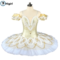 New style gold adult women Ballet Dance Tutu Higirl Girls Ballet Dancing Dress team performance ballet dress leotard BT9154