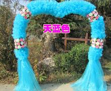 New wedding arch wedding happiness door silk flower