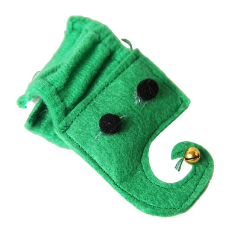Pet Dog Cat Hat Teddy Puppy Festivals 4 sets of Green Feet Cats and Dogs Ear Hole Dog Hat