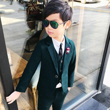 Новое поступление, модные блейзеры для мальчиков из 3 предметов костюмы для мальчиков на свадьбу костюм для малышей Детские костюмы на свадьбу, От 3 до 10 лет одежды