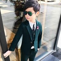 New Arrival Fashion Boys Kids 3PCS Blazers Wedding Boy Suits Infantil Costume Children Wedding Suits Clothing 3 10T
