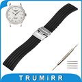 17mm 18mm 19mm 20mm 21mm 22mm 23mm 24mm Silicone Rubber Watch Band  for Tissot 1853 Strap Wrist Belt Bracelet