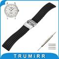 17mm 18mm 19mm 20mm 21mm 22mm 23mm 24mm caucho de silicona watch band para tissot 1853 correa de pulsera pulsera de la correa