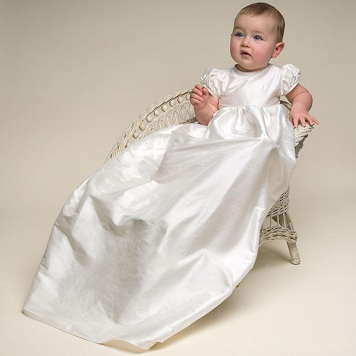 baby dress Silk Lace Christening Gowns Baby Baptism Dress Newborn ...
