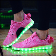 Men Led Shoes 7 Colors Led Luminous Men High Top Led Shoes For Adults Usb Charging Led Lights Up Shoes