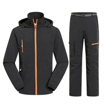 Men&Women Quick Dry Breathable Jackets Pants Outdoor Sports Suit Brand Clothing Trekking Hiking Male Female Tracksuit Sets