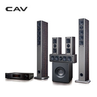 CAV AV930 Home Theater 5 1 System Bluetooth EDR IMAX Music Center Optical Coaxial RCA Wooden