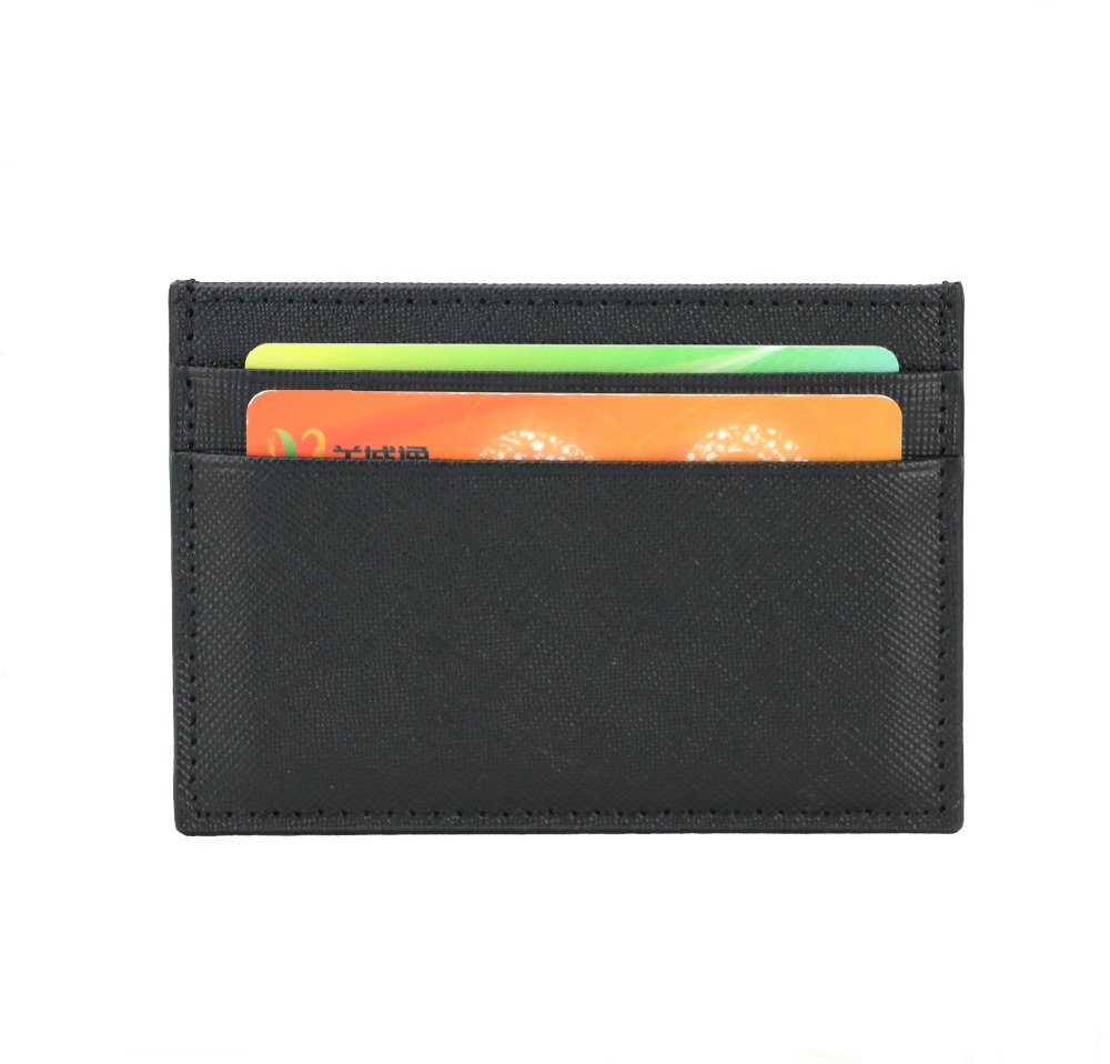 Classic Business Saffiano Split Leather Credit Card Holder Limited Edition Customed Initial letters ID Card Case Card Wallet стоимость