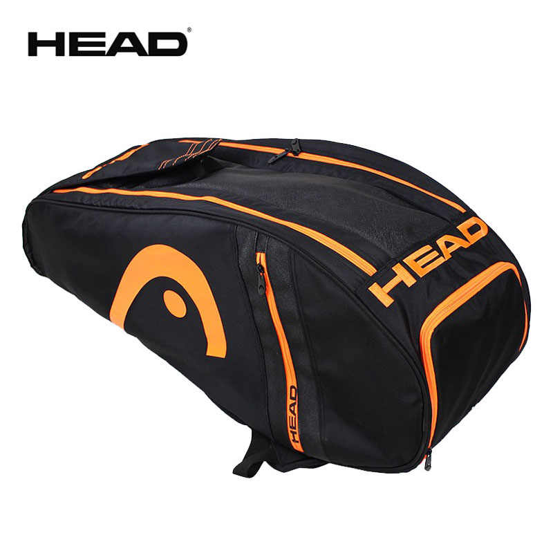Original Murray Limited Edition Head Tennis Rackets Bag Max For 6 Rackets Professional Male Sports Backpack Large With Shoes Bag