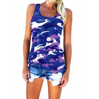 Camouflage T-Shirts Tank Tops 2018 New Summe S-5XL Womens Sleeveless Camo T Shirt Tees Tanktops Brand Clothing 1