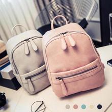 Pink Backpack for Teenager Girls Casual Pu Leather Ladies Feminine Korea Small School Bags Student Mini Backpacks Rucksack Bag