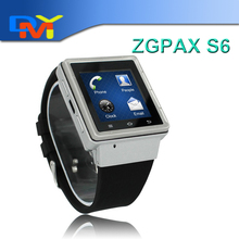 Android Smart Watch Phone 1,54 Zoll ZGPAX MTK6577 Dual Core S6 Smartwatch Smartphone GPS 2,0 MP Kamera Wifi 3G WCDMA GSM
