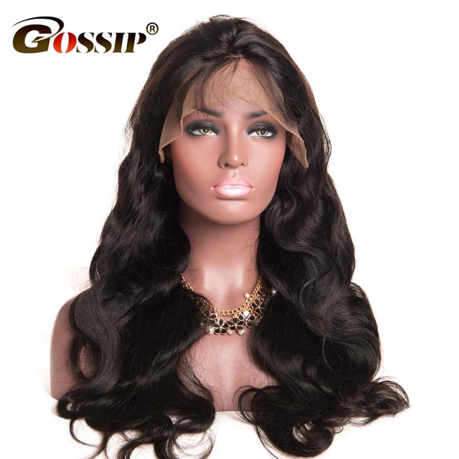 Gossip Hair Wig Malaysian Body Wave Lace Առջևում Մարդու - Մարդու մազերը (սև) - Լուսանկար 2