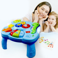 Baby Multi function Early Education Study Table Light Music Giraffe Study Table Baby Educational Toys Cartoon Study Table