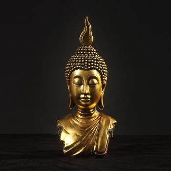 Buddha head, peace, Buddha statue, Bodhisattva, Home decor, resin crafts, ornaments, 2 color optional~