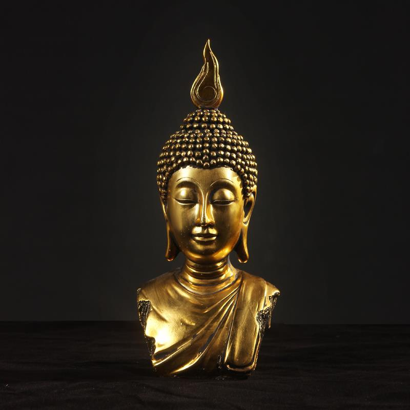buddha head peace buddha statue bodhisattva home decor resin crafts ornaments 2 color. Black Bedroom Furniture Sets. Home Design Ideas