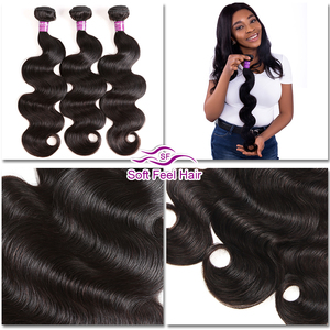 Image 5 - Soft Feel Hair 1/3/4Pcs Ombre Brazilian Body Wave Bundles 1B/Burgundy Ombre Hair Bundles Weave 99J Red Remy Human Hair Extension