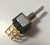 Imported Japan ese NKK horizontal toggle switch M 2033 torsion switch 3 gear 9 foot 3 shake switch