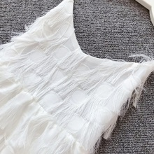 Summer Mother Daughter Matching White Fringe Dresses