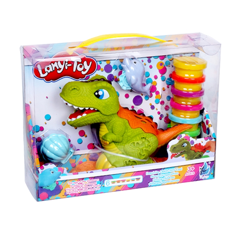 Lanyitoys Dinosaur Squishy Slime Toys Polymer Soft Clay Dinosaur Clay Plasticine Colorful Slime Play Dough Fluffy Toys For Kids