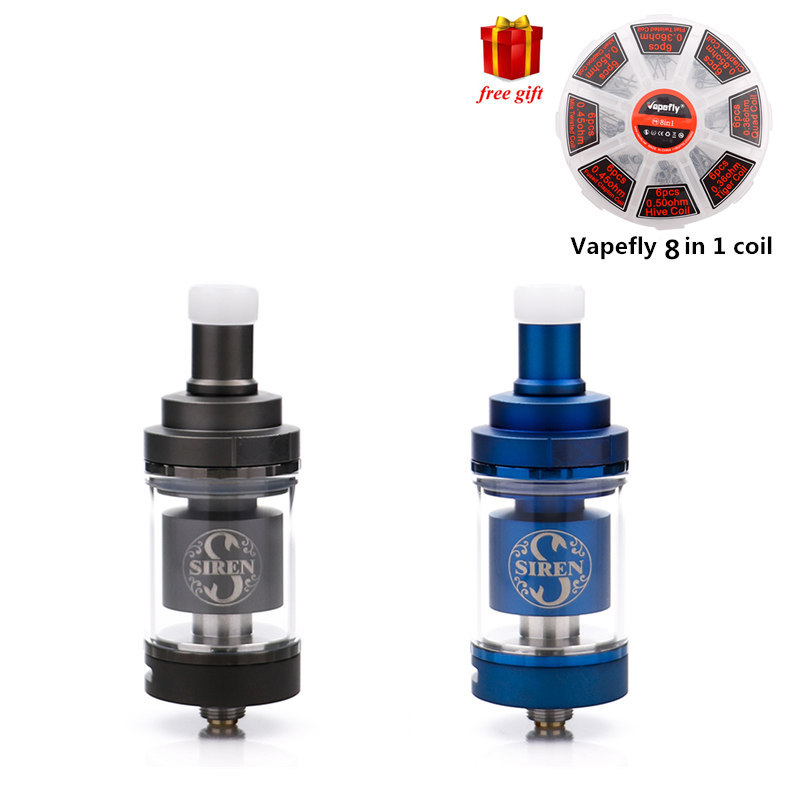 Freies geschenk Original Digiflavor Sirene V2 GTA MTL Tank 24mm 4,5 ml sirene 2 22mm 2 ml elektronische zigarette zerstäuber