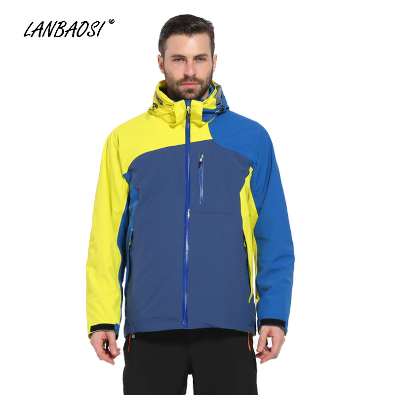 LANBAOSI Winter Thermal Fleece Liner Jackets for Men Hiking Climbing Camping All Weather Waterproof Windproof Anti-UV Coat rax hiking jackets men waterproof windproof warm hiking jackets winter outdoor camping jackets women thermal coat 43 1a062