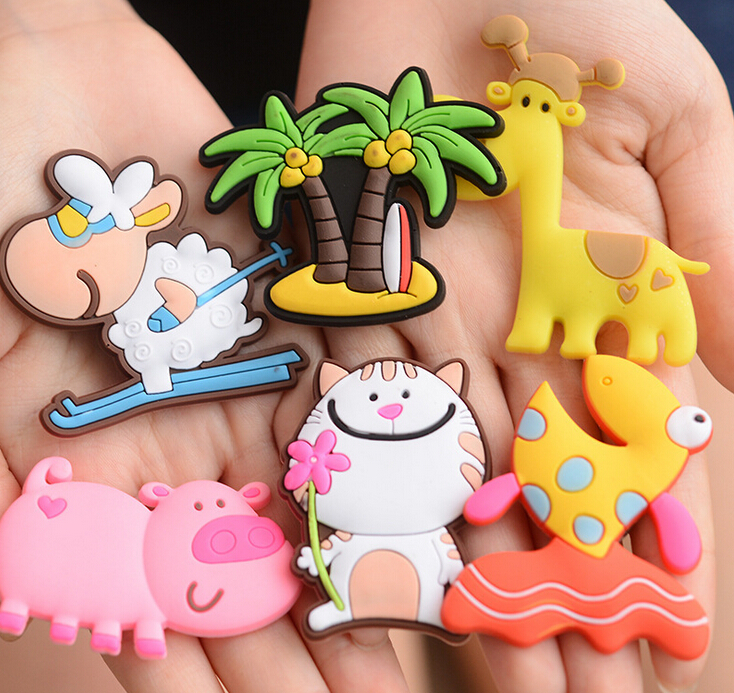 Creative Refrigerator Magnet Cartoon Retro Clock Super Strong Magnetic Paste Magnet Cute Animal Soft PVC Fridge Magnet Paste cartoon cute chicken leather magnet