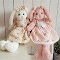 48cm High Quality Lovely Rabbit Bunny in Dress Plush Toys Stuffed Dolls Gift for Baby Kids Children Lovers
